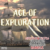 Age of Exploration Differentiated Reading Passages of Famous Explorers Bundle