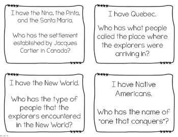 Famous Explorers Vocabulary and Key Terms Review Game for the Age of Exploration