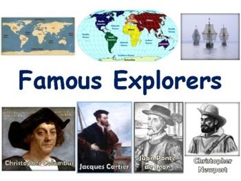 Famous Explorers Lesson - classroom unit, study guide, sta