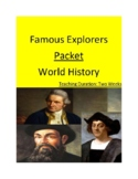Famous Explorers Packet - Two Weeks!