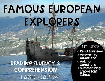 Famous European Explorers and the Age of Exploration Reading Fluency Task Cards