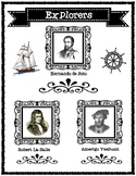 Famous Explorers Research Articles and Graphic Organizers