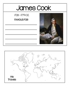 Famous Explorers - Research Cards