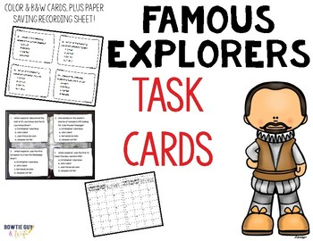 Famous Explorers Task Cards Review