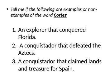 Famous Explorers Vocabulary