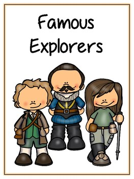 Famous Explorers Writing Word Thematic Folder - Picture Word Wall