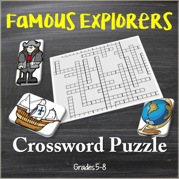Famous Explorers of the New World Crossword Puzzle