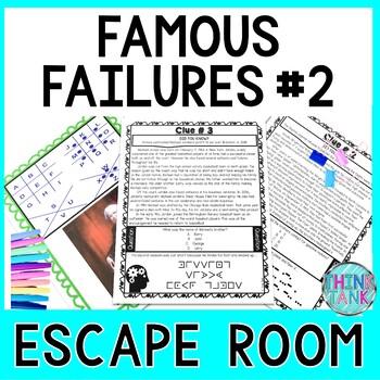 Famous Failures #2 ESCAPE ROOM: A Growth Mindset Activity | No Prep