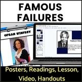 Famous Failures of Diverse Backgrounds   Growth Mindset Activity