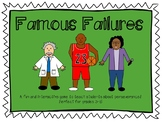 Famous Failures - A Fun Way to Teach Growth Mindset and Pe