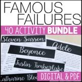Famous Failures BUNDLE Reading Informational Text - Distan