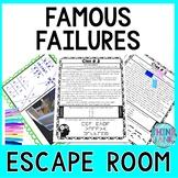 Famous Failures ESCAPE ROOM: A Growth Mindset Activity | No Prep!