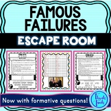 Famous Failures ESCAPE ROOM: A Growth Mindset Activity