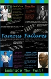 Famous Failures Inspirational Classroom Poster
