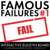 Famous Failures Vol. 1, Interactive Growth Mindset Bulletin Board, Grades 6-12
