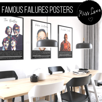Famous Failures Poster Set | Inspiring Growth Mindset Posters