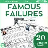 Famous Failures Reading Passages and Poster Set