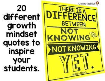 Growth Mindset Poster Pack