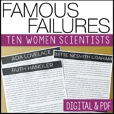 Famous Failures- FEMALES- Reading Informational Text w/ co