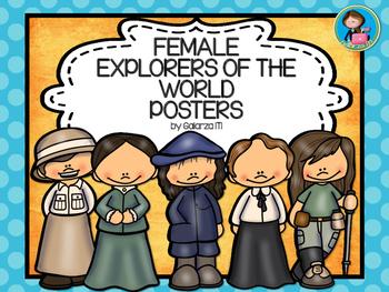 Famous Female Explorers 12 Posters Set