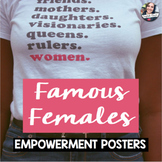 Famous Females - Woman of the Month - Classroom Posters Decor