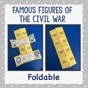 Famous Figures of the Civil War Foldable