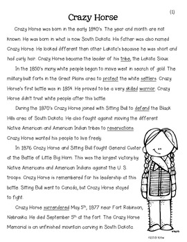 Famous Figures of the Wild West {Crazy Horse}
