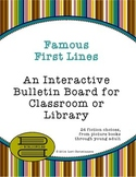 Famous First Lines -- Bulletin Board Printable