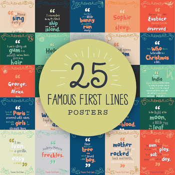 Famous First Lines: Bundle of 25