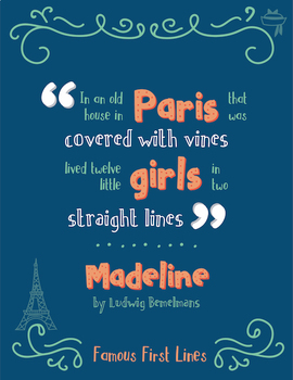 Famous First Lines : Madeline Poster