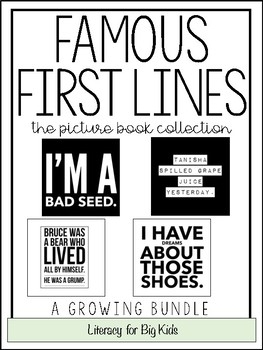 Famous First Lines Worksheets & Teaching Resources | TpT