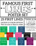 Famous First Lines Poster Set