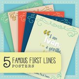 Famous First Lines Posters: Bundle of 5