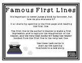 Famous First Lines Task Cards FREEBIE