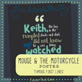 Famous First Lines: The Mouse and the Motorcycle