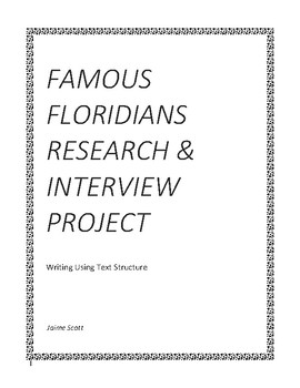 Famous Floridians Research & Interview Project