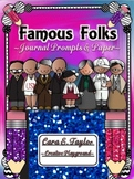 Famous Folks of Black History~Journal Prompts and Writing Papers