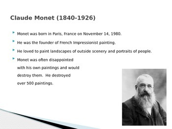 Famous French Painters PowerPoint