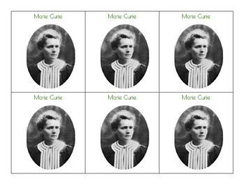 Famous French People Cards