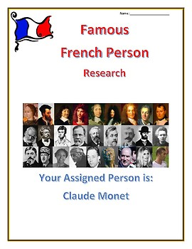 Famous French People- Internet Research Guides Set