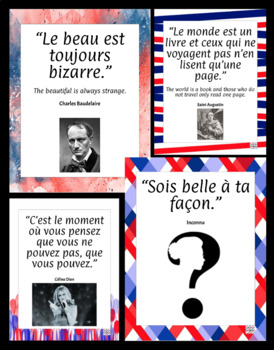 Famous French Quotes Posters - Citations francophones