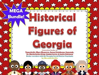 Famous Georgians Historical Figures Interactive Books Review MEGA PACK