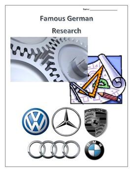 Famous Germans: Automobiles, Architecture and Tech Research Guides Set