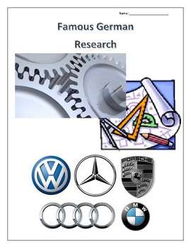 (FAMOUS GERMANS) Automobiles, Architecture and Tech Research Guides Set