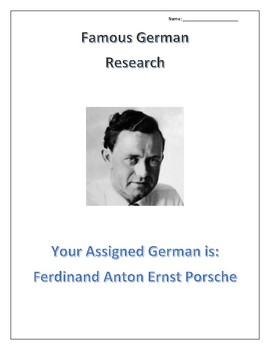(FAMOUS GERMANS) Ferdinand Anton Ernst Porsche
