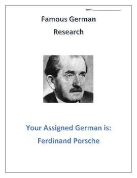 (FAMOUS GERMANS) Ferdinand Porsche