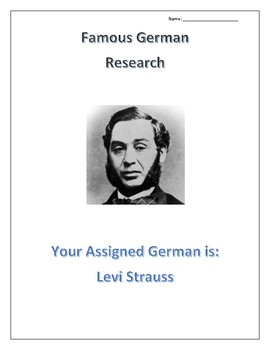 (FAMOUS GERMANS) Levi Strauss