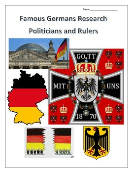 (FAMOUS GERMANS) Politicians and Rulers Internet Research Guides Set