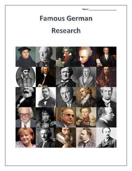 (FAMOUS GERMANS) Famous Germans Research Guides Set