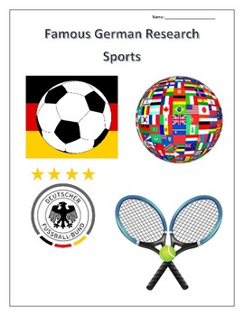 (FAMOUS GERMANS) Sports Research Guides Set - distance learning